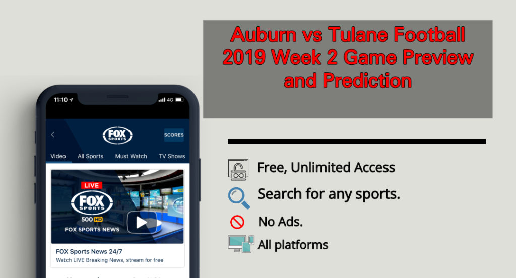 Auburn vs Tulane Football 2019 Live